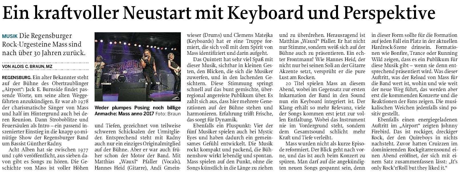 Mittelbayerische Zeitung vom 18.05.2017